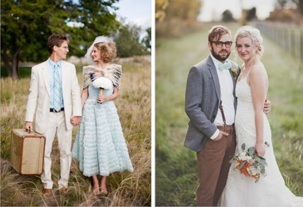 Невеста платье айвори рубашка жениха